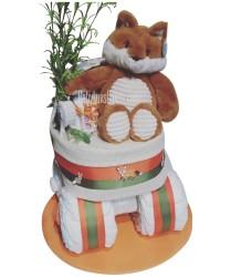 Fox diaper cake