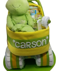 Frog neutral diaper bassinet