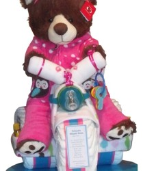 Pink girls diaper tricycle
