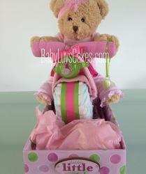 Pink girls diaper motorcycle