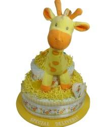 Giraffe diaper gift