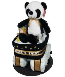 Panda diaper bassinet