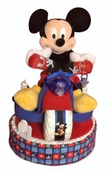 Mickey Mouse Tricycle diaper cake