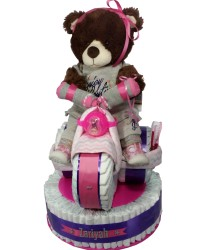 Girls Juicy themed diaper cake