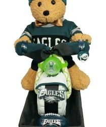 Eagles motorcycle diaper cake